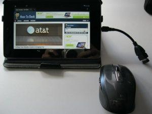 Maus und Tablett verbinden